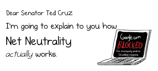 Dear Senator Ted Cruz, I'm going to explain to you how Net Neutrality ACTUALLY works - The Oatmeal