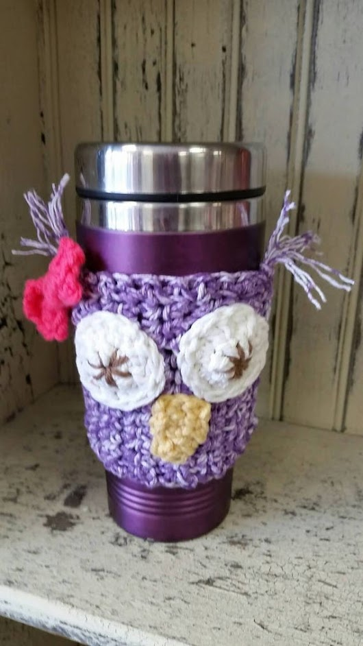 Owl Mug Cozy  Coffee Sleeze Mug Sleeve Mug by heffernanscrafts