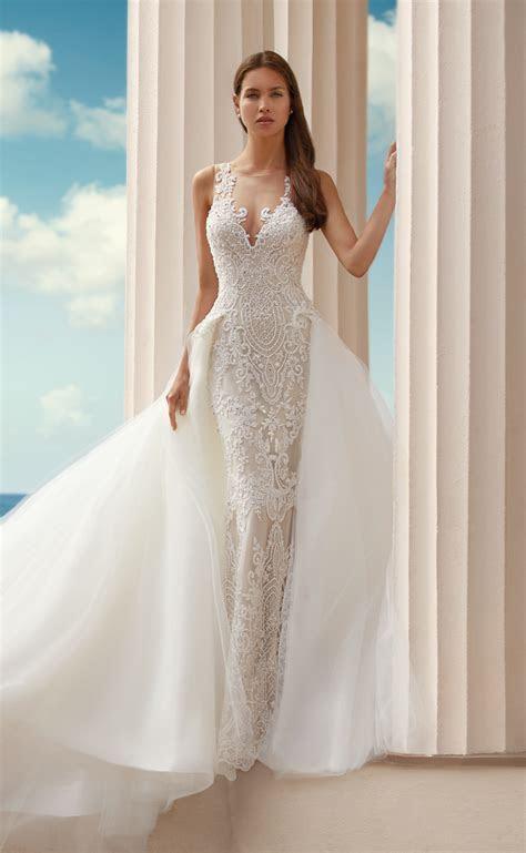 Stunning wedding dresses with overskirts