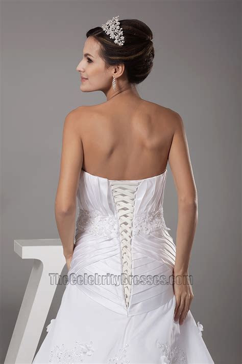 Gorgeous Strapless Sweetheart A Line Lace Up Back Wedding