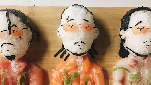What's for dinner tonight? How about Steve Aoki sushi with a side of Migos?