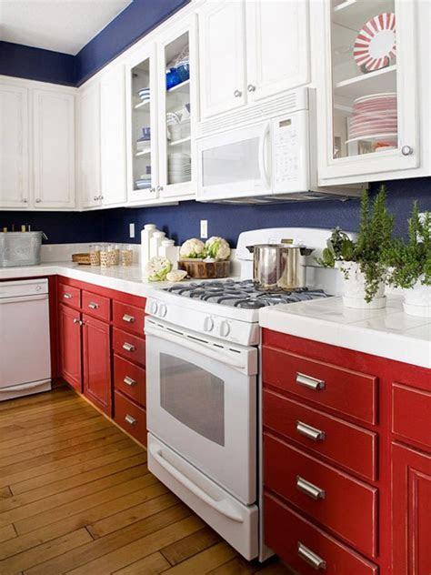 white  blue combinated kitchen designs