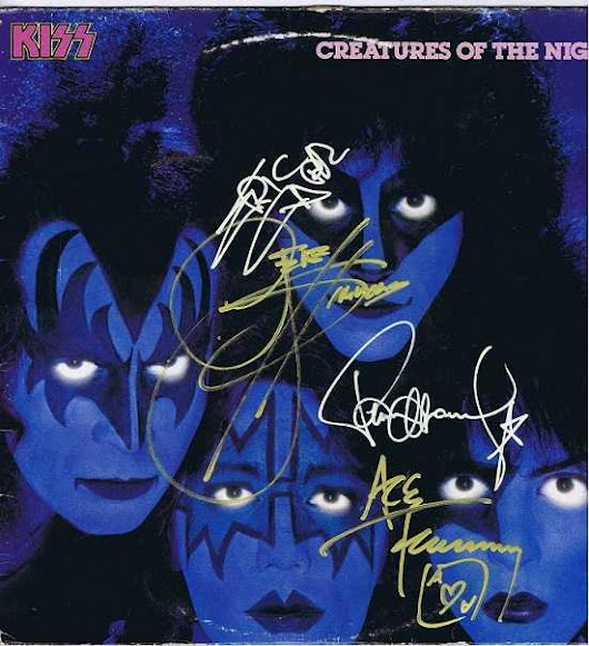 Kiss Creatures of the Night Autographed Gene Simmons Paul Stanley Ace