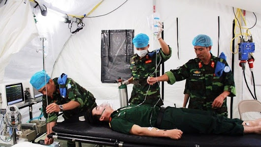 THE VIETNAM PEACEKEEPING CENTER'S LEVEL-2 FIELD HOSPITAL TRAINING EXERCISE | BLU-MED