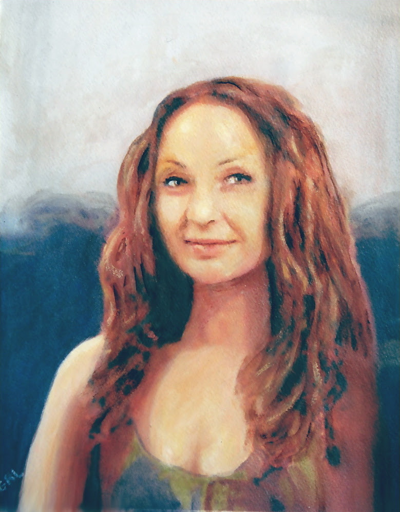 Jen, Mona Lisa 2012. Original painting, $340, 11x14 inches; $20 to $30, medium-size prints, free downloads.  ...one of my favorites; after obviously a motif of Leonardo da Vinci. Multimedia classical traditional modern acrylic oil ‪‎painting‬s. ‬‎GrlFineArt ‪‎art ‪‎fineart ‪‎painting, room decor, ‪‎painting‬s, prints, landscapes, seascapes, boats, figures, nudes, figurative, flowers, stillife, digitalabstracts