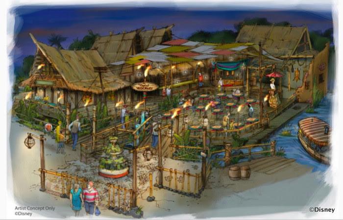 Disneyland Tropical Hideaway Dining Location ©Disney