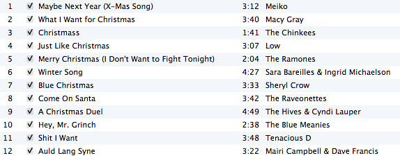 Christmas Playlist 2009