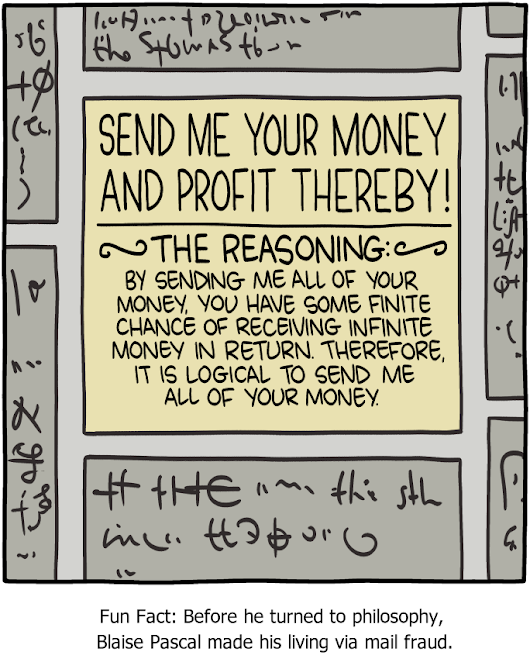 Saturday Morning Breakfast Cereal - Pascal's Other Wager