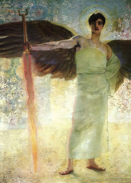 File:Franz Von Stuck - The Guardian of Paradise.jpg