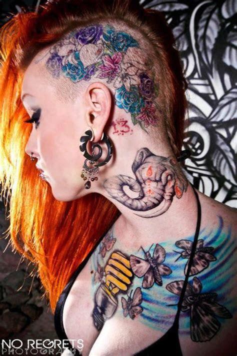 crazy tattoo ink head tattoos girls