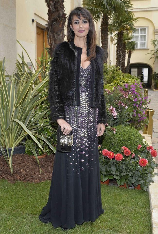 6 Maria Grazia Cucinotta in Roberto Cavalli@ Life Ball 2013 Gala Dinner