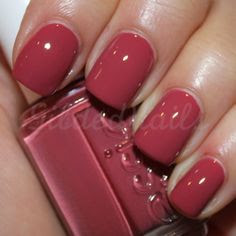 Essie – Raspberry Red. Perfect for fall.