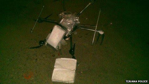 Crashed drug delivery drone