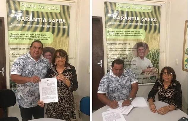 Prefeito Manoel assina termo de adesão ao programa Garantia Safra 2019.