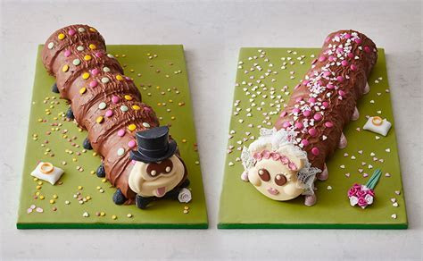 Colin the caterpillar cake and Connie are getting married
