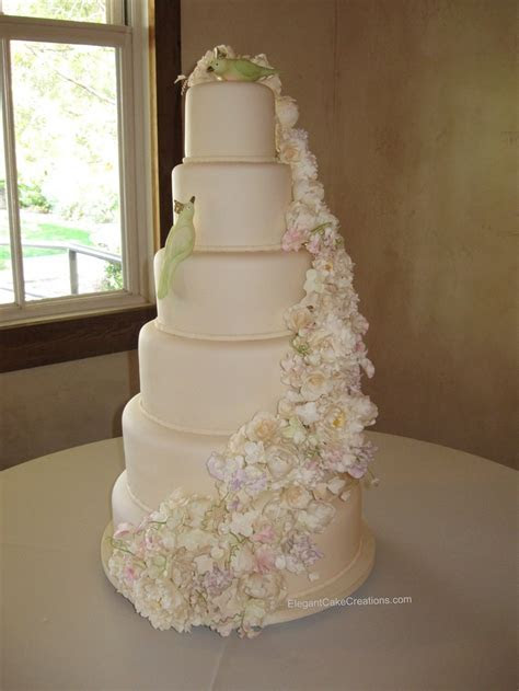 164 best Wedding Cake, Floral Cascade images on Pinterest