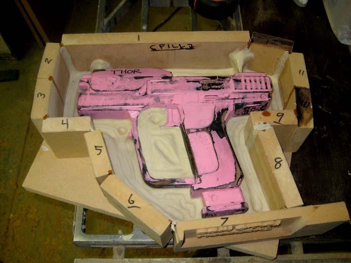 Pistol Mold Prepped