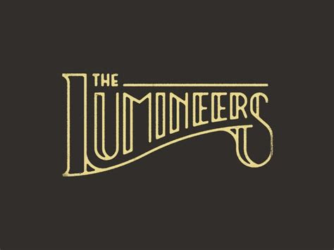 lumineers  chaz russo logos pinterest