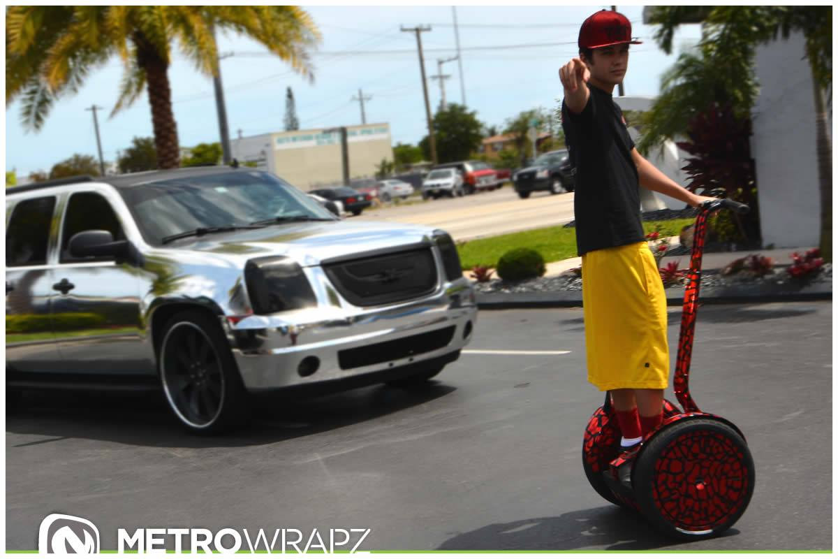 Austin Mahone Gets Chrome Segway Collection To Match Cars Autoevolution