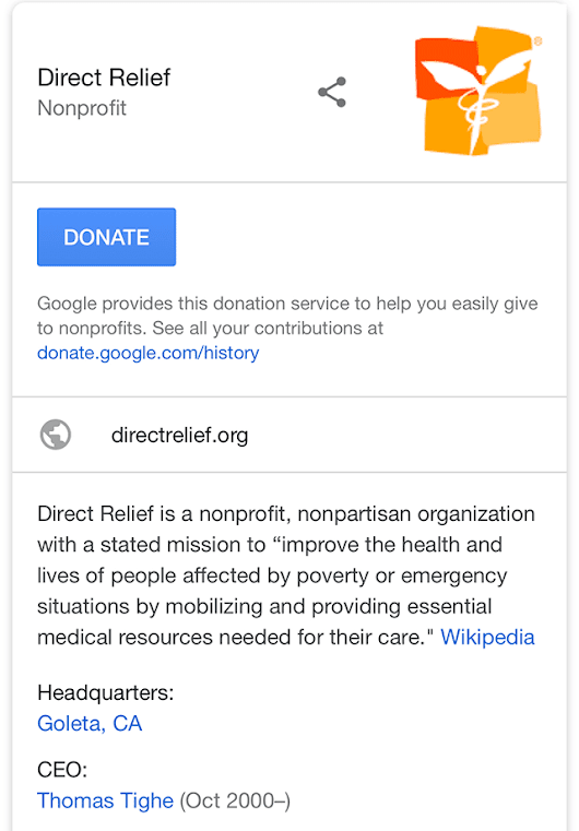Google Adds Donate Button To Google For Nonprofits Customers In Search