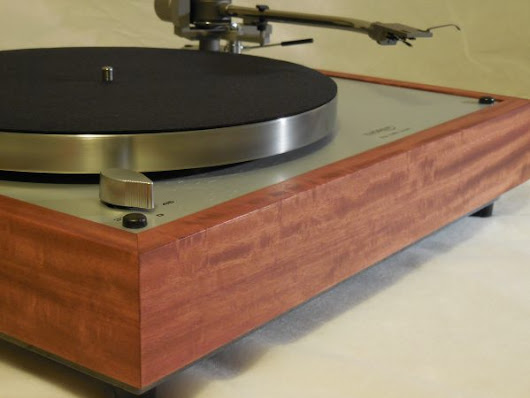 Custom Thorens TD-160 Super Reproduction, new Jelco 750D tonearm, Solid Santos Mahogany Plinth - AR Turntable Vinyl Nirvana Acoustic Research Merrill Thorens TD 160 For Sale