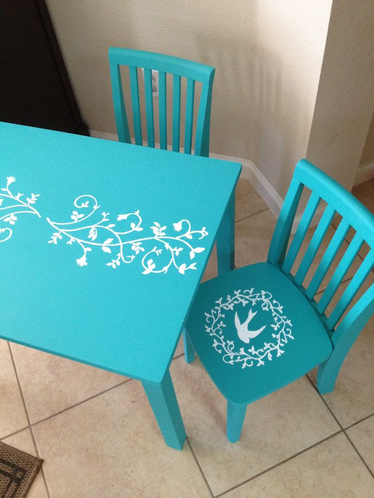 DIY Chalk Paint Kids Table and chairs. | Furniture Creations & Inspir…