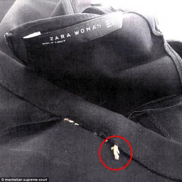 ΑΗΔΙΑ: Βρήκε ένα... ΨΟΦΙΟ  τρωκτικό στο στρίφωμα φορέματος που αγόρασε από το Zara - Δείτε τις ΑΠΙΣΤΕΥΤΕΣ εικόνες - Φωτογραφία 2