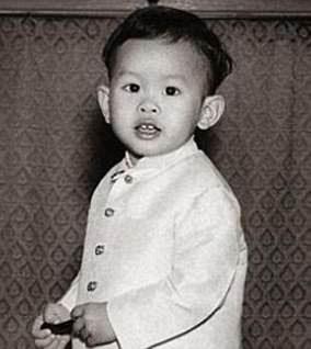 King Maha as a toddler