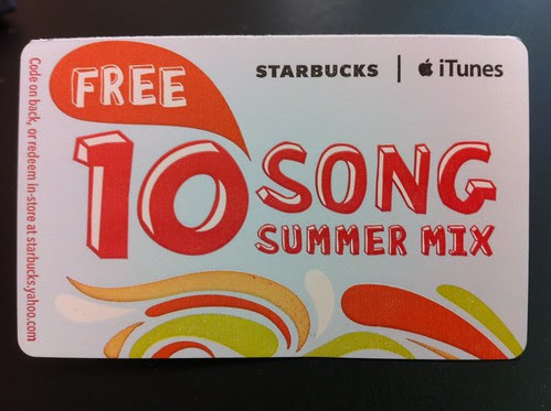 Starbucks iTunes 10 Song Summer Mix