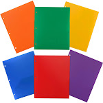 JAM Paper Assorted Primary Colors Plastic Folders -383HHPrgbypbl - 1 per pack