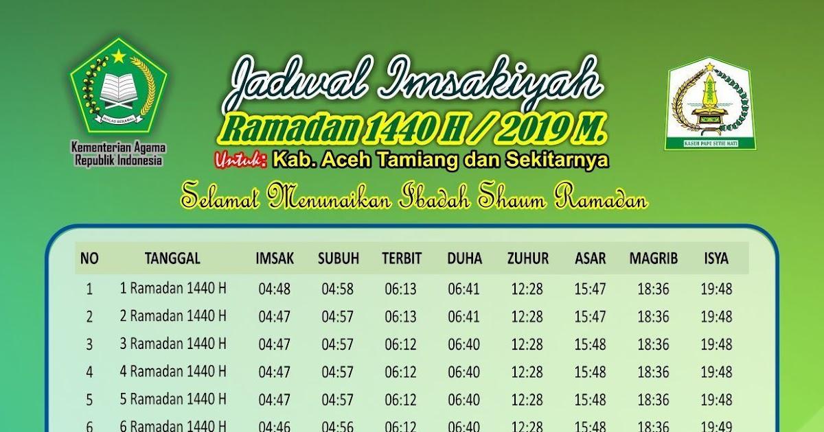 Jadwal Imsakiyah Ramadhan 2018 Kementerian Agama - Dunia ...