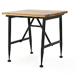 Ocala Acacia Industrial Side Table - Antique Black - Christopher Knight Home
