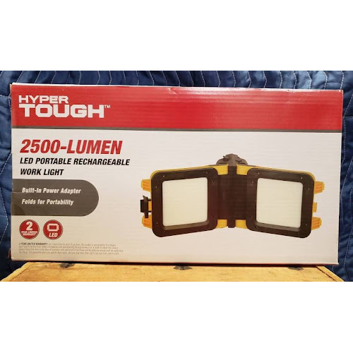Hyper Tough 2500 Lumen Led Portable Rechargeable Work Light