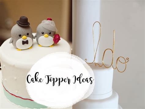 8 Cute Wedding Cake Topper Ideas   Voltaire Weddings