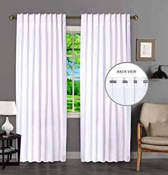 Beautiful Farmhouse White Curtains Living Room images