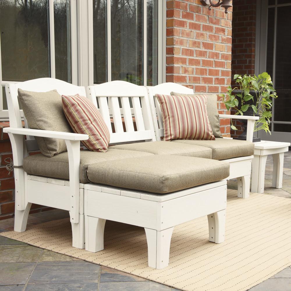 Uwharrie Chair Westport Small Patio Sectional Set | UW ...