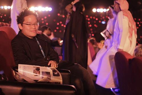 At the Dubai Film Fest opening ceremony