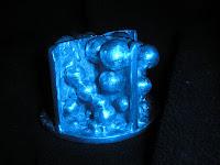 Aluminum Sculpture - side view, blue filter