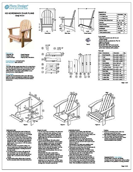 Adirondack Chair Plans Material List Info Woodworking Tools
