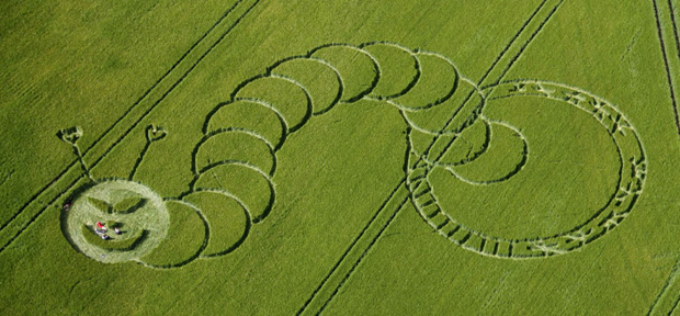 """The 18 Most Beautiful Examples Of """"Crop Circles"""" In Pictures"""