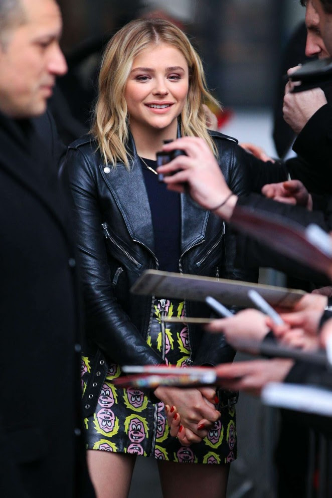 Chloe Moretz at BBC Radio One Studios -05