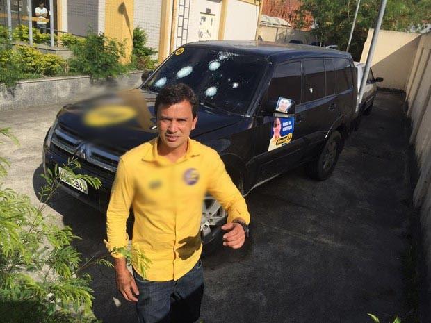 Andrezinho de Japeri teve o carro alvejado (Foto: Arquivo pessoal)