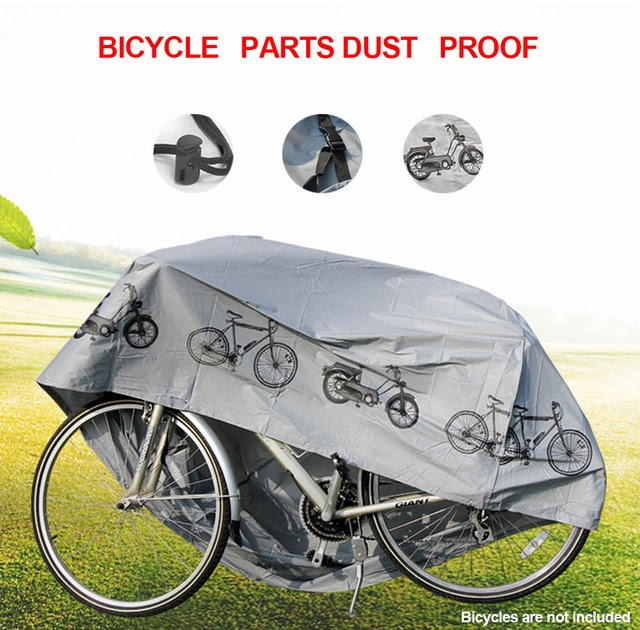 Waterproof Bicycle Cover Bike Sun//Rain//Snow//Dust Proof UV Protector For 3 Bikes