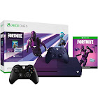 Microsoft - Xbox One S 1TB Fortnite Gradient Purple Special Edition Console Bundle with Extra Black Controller