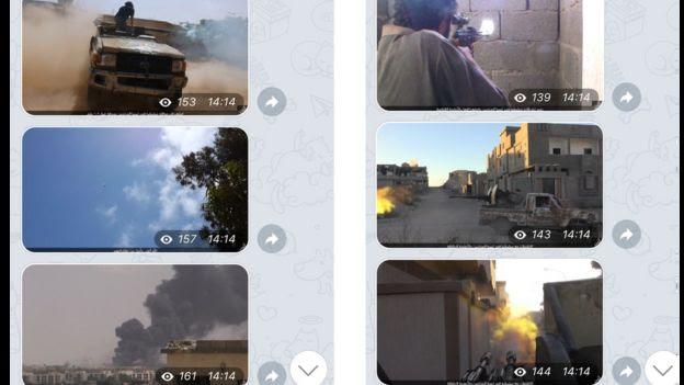Imagens de confrontos divulgadas em alta resolução em grupo do EI em português no Telegram