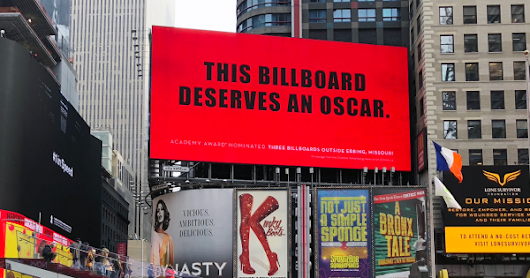 The Billboard Industry Thanked '3 Billboards' Using '3 Billboards'-Inspired Billboards