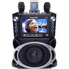 KARAOKE USA GF840 DVD/CD+G/MP3+G Bluetooth Karaoke System with 7″ TFT Color Screen