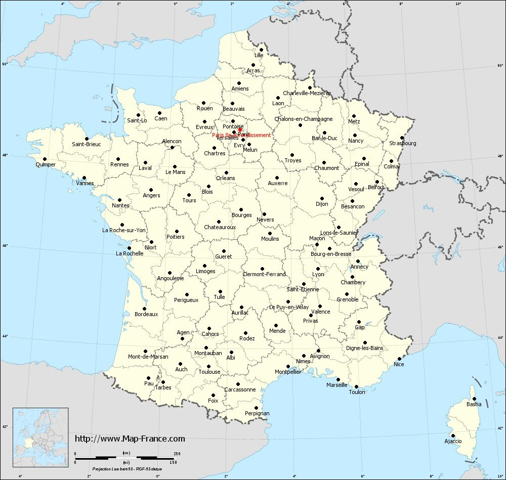 French Paris Map World Map Interactive