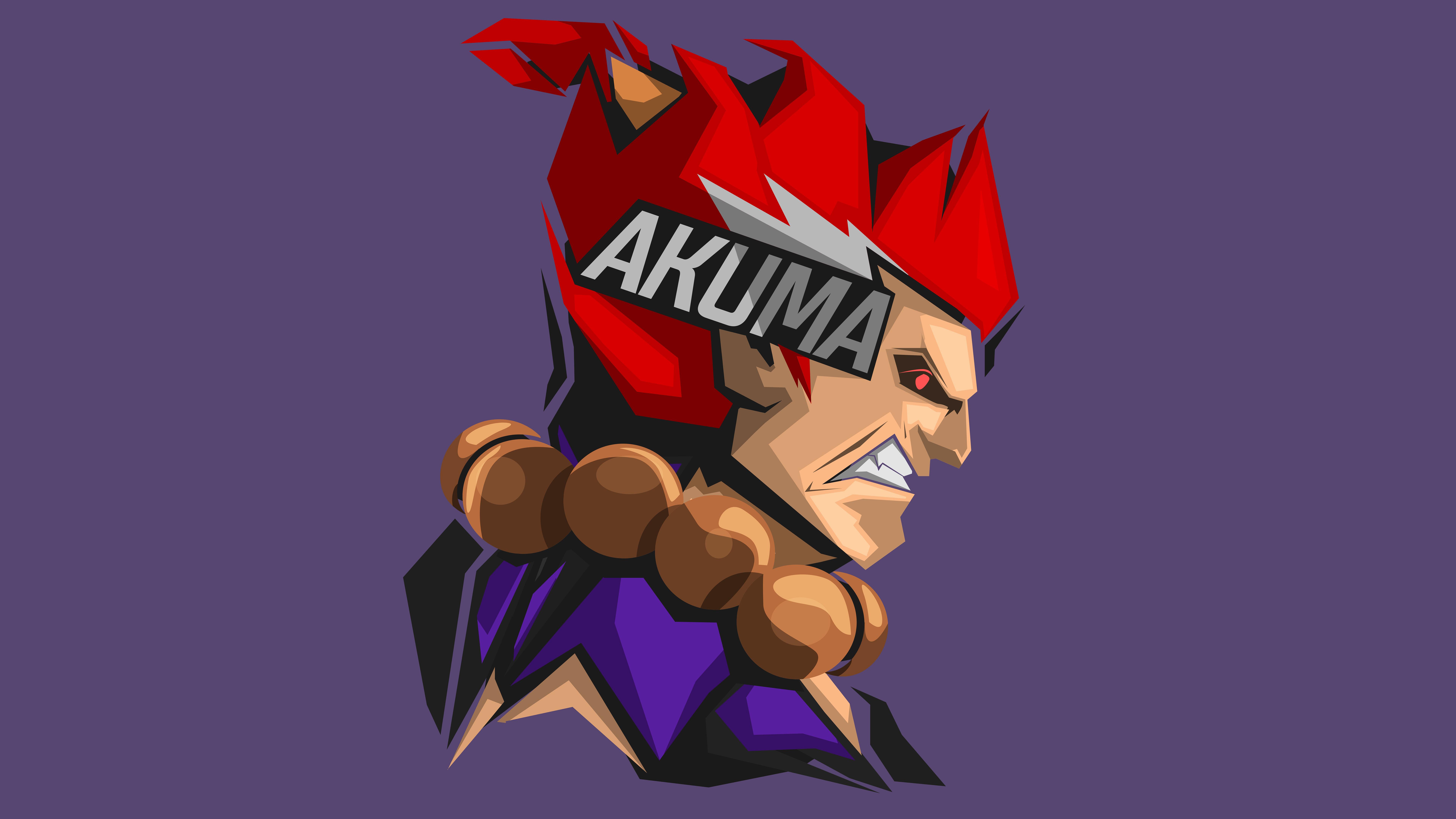 Akuma Street Fighter Minimal 4k 8k Hd Wallpapers