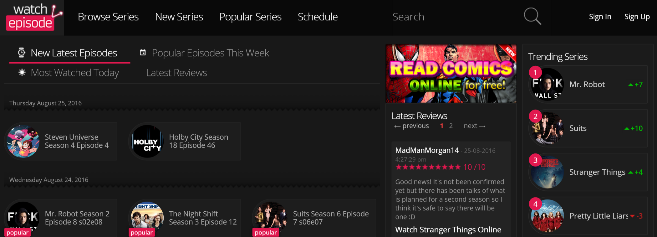 Watch tv shows on android free online